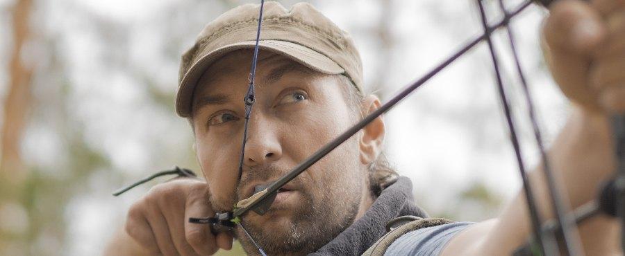 drawn hunting bow
