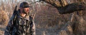 Hunter with tree stand